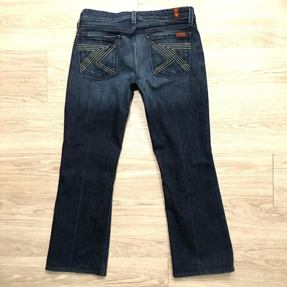 7 For All Mankind Denim - 74AMK 7 For All Mankind Flynt Jeans Bootcut Crop